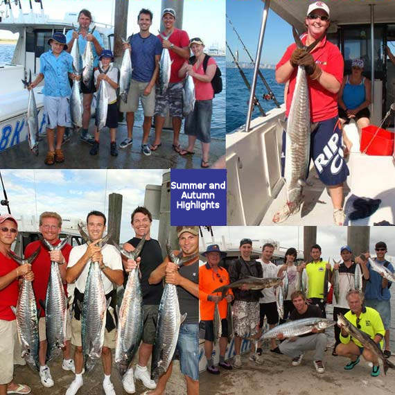 Gold Coast ocean reef charter fishing on BK's Gold Coast Fishing Charters, Gold Coast Queensland Australia.